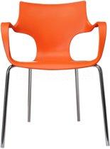 24Designs Stapelbare Stoel Jim - Armleuningen - Oranje
