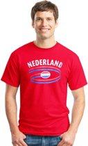 Nederland t-shirt rood 2xl