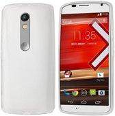 Colorfone PREMIUM CoolSkin3T Siliconen / Gel / TPU / Softcase / Hoesje / Cover / Case voor de Motorola Moto X Play Transparant Wit