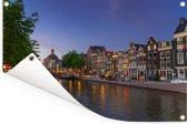 De Prinsengracht op een zomeravond Tuinposter 90x60 cm - Tuindoek / Buitencanvas / Schilderijen voor buiten (tuin decoratie)