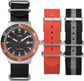 Timex Original Dvr Style - Horloge - 43 mm - Zwart/Oranje
