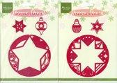 Marianne Designs Christmas Stencils Ster/Bal [ LET OP: LINKER FOTO ]