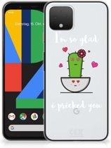 Google Pixel 4 Telefoonhoesje met Naam Cactus Glad