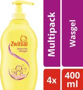 Zwitsal Zeepvrije Wasgel - 4 x 400 ml - Voordeelverpakking