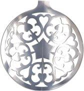 Kerstbal hangdecoratie zilver 49 cm