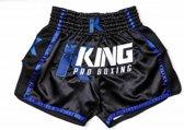 King Pro Boxing KPB/BT 5 Kick/Thai Trunk - Black Blue-M
