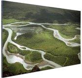 Rivierlandschap foto Aluminium 30x20 cm - Foto print op Aluminium (metaal wanddecoratie)
