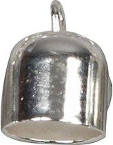 Eindkap, d: 8 mm, verzilverd, 50stuks