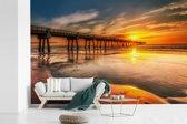 Fotobehang vinyl - Zonsopgang aan de kust van Jacksonville in Florida breedte 390 cm x hoogte 260 cm - Foto print op behang (in 7 formaten beschikbaar)