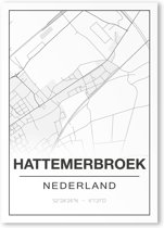 Poster/plattegrond HATTEMERBROEK - A4
