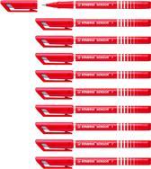 STABILO SENSOR Fineliner 0,3 mm - Rood - Doos 10 stuks