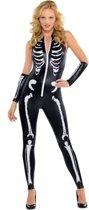 Verkleedkostuum sexy skelet voor dames Halloween  - Verkleedkleding - Small