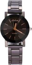 Hidzo Horloge Medisa ø 37 mm - Zilver/Zwart - Inclusief horlogedoosje