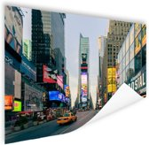 Gele taxi in Times Square Poster 180x120 cm - Foto print op Poster (wanddecoratie woonkamer / slaapkamer) / Amerikaanse steden Poster XXL / Groot formaat!