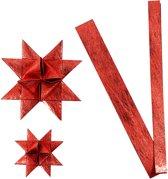 Papieren vlechtstroken, b: 15+25 mm, d: 6,5+11,5 cm, rood, zijde, 32stroken, l: 44+78 cm