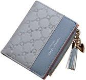 ZILOU Compacte Portemonnee - Mini Wallet - Portefeuille - Dames - Kunstleer - Grijs