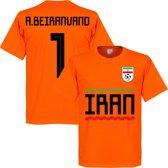 Iran A. Beiranvand 1 Team T-Shirt - Oranje - S