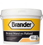 Brander Brava Wand en Plafond Wit 10 Liter