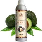 Avocado olie 250 ml, 100% zuiver en natuurlijke basisolie, rijk aan mineralen & vitamines voor intensieve lichaamsverzorging / massage / wellness / cosmetica / ontspanning / aromatherapie / etherische olie / alternatieve geneeskunde van AROMATIKA