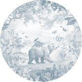 Pimpelmees muursticker Dieren Bos - kinderkamer - babykamer - 120 cm - blauw