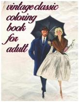Vintage Classic Coloring Book for Adult