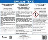 Sonixlab TEK33 universele ultrasoon vloeistof (carburator) - 5 liter
