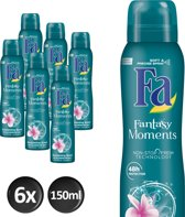 Fa Fantasy Moments - 6x 150 ml - Voordeelverpakking - Deodorant