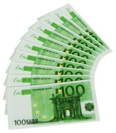 100 euro servetten - 10 stuks