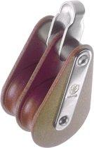 HYE 33016 tweeschijfs Blok met Oog voor Lijn Ø 16mm