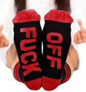 Fuck off sokken rood