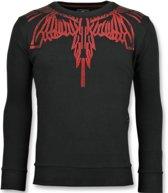 Local Fanatic Eagle Glitter - Merk Sweater Mannen - 6340Z - Zwart - Maten: XL