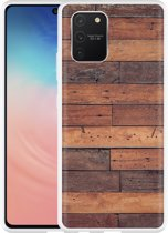 Samsung Galaxy S10 Lite Hoesje Houten planken