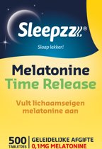 Sleepzz - Melatonine Time Release Slaaptabletten- 500 smelttabletten - Voedingssupplement