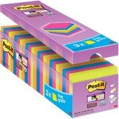 Value Pack: Post-it® Super Sticky Notes - 76mm x 76 mm - 21 blokken + 3 GRATIS