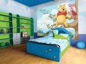 Fotobehang Disney, Winnie De Poeh | Geel | 208x146cm