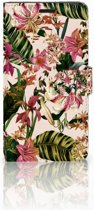 Sony Xperia T3 Bookcase Flowers
