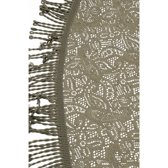 Buiten tafelkleed/tafellaken grijs 160 cm rond - Tuintafelkleed tafeldecoratie