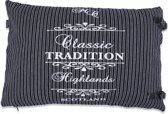 In The Mood Sierkussen TraditionStripe - 40x60 cm - Zwart