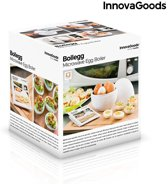 InnovaGoods Kitchen Foodies Boilegg eierkoker voor de magnetron met receptenboekje!