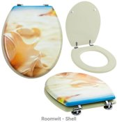 WC Bril, toiletbril met fotoprint-Roomwit - Shell