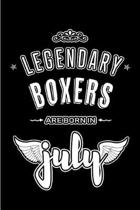 Legendary Boxers are born in July