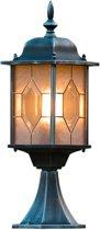 Konstsmide Milano - Sokkellamp 51cm - 230V - E27 - zwart/zilver