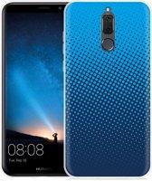 Huawei Mate 10 Lite Hoesje lichtblauwe cirkels