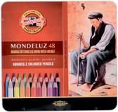 Aquarelpotoden Mondeluz Koh-i-Noor 48 st. + CR Penseel