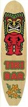 Surfboard muurplaat Tiki Bar