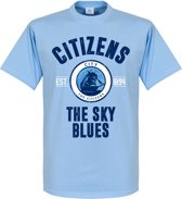 Manchester Established T-Shirt - Licht Blauw - S