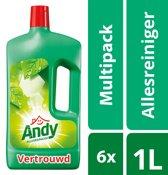 Andy Vertrouwd Allesreiniger - 6 x 1 l - Voordeelverpakking