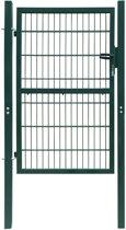vidaXL 2D Poort (enkel) groen 106 x 210 cm
