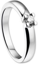 The Jewelry Collection Ring Diamant 0.10 Ct. - Witgoud (14 Krt.)