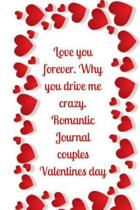 Love You Forever. Why You Drive Me Crazy.Romantic Journal Couples.Valentines Day
